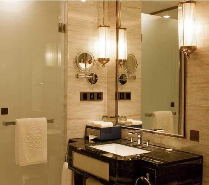 酒店浴室设计不可小视,小小的房间内有大玄机!